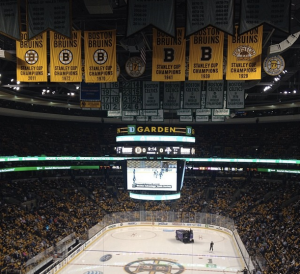 This is a picture of a Bruins game I once skipped class to see.