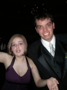 Actual picture of me dancing near him at prom, where he took one of my best friends LOL.