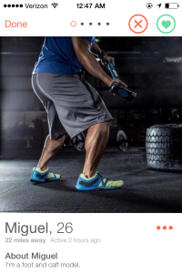 Of course I swiped right.